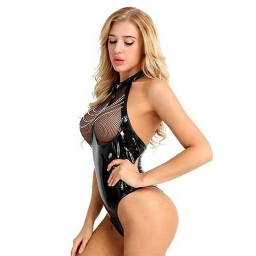 Sexy lingerie bodysuit side photo