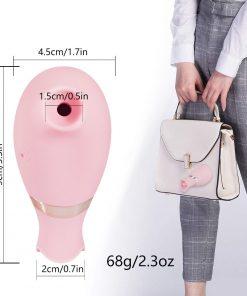 Clitoris Sucker Vibrator light pink size