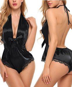 Sexy Lace Lingerie Bodysuit black