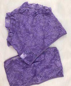 Sexy Lace Lingerie Shorts Set